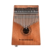 Portable 17-key Kalimba Thumb Piano Mbira Sanza Mahogany Wood Built-in Pickup With 6.35mm Speaker Interface with Carry Bag Stickers Tuning Hammer Cleaning Cloth Finger Stall Musical Gift
