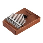 Portatile a 17 tasti Kalimba Thumb Piano Mbira Sanza Pick-up da incasso in legno di mogano con interfaccia per altoparlanti da 6.35 mm con adesivi per borse da trasporto Tuning Hammer Cleaning Cloth Finger Stall Musical Gift