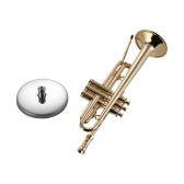 Mini Brass Trumpet Model Exquisite Desktop Musical Instrument Decoration