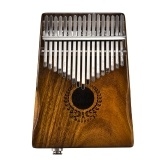 Muspor 17 Keys EQ Kalimba Solid Acacia Thumb Piano Link Speaker Electric Pickup with Bag Cable Calimba Mbira Keyboard Instrument