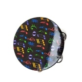 """8"""" Hand Held Tambourine Drum Bell with Metal Jingles Percussion Musical Educational Instrument for KTV Party Kids Games"""