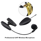 Professional UHF Wire-less Saxophone Microphone