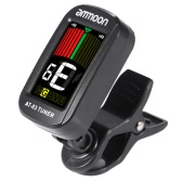 ammoon AT-03 Clip-on Tuner Farbe LCD Motorleinwand 360° Rotatable für Gitarre Bass Violine chromatische Ukulele Universal Exquisite Portable