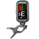 ammoon AT-03 Clip-on Electric Tuner Color LCD Screen 360° Rotatable for Guitar Bass Violin Chromatic Ukulele Universal Exquisite Portable