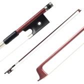 4/4 violino violino arco fibra de carbono material sapo de ébano