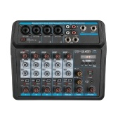 Compact 6-Channel USB Mixing Console Digital Audio Mixer