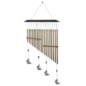 18-bar Wind Chimes Aluminum Tube Chime with Butterfly for Bedroom Garden Backyard Decoration