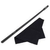 木管楽器アクセサリークリーニング-フルート用布付きフルートクリーニングロッド用スティック