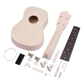 21 Inch Unfinished DIY Soprano Ukulele Ukelele Wooden Handmade Uke Kit for Lovers Beginners