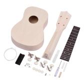 21-дюймовый необработанный DIY сопрано укулеле деревянный укулеле ручной работы комплект для любителей начинающих