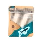 Hluru 21 Touches Kalimba Piano à Pouce Piano à Pouce en Bois de Hêtre