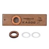 木製のKazoo楽器ウクレレギターのパートナーウッドハーモニカ、音楽愛好家のための金属箱付き