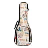 "ammoon 23 ""Ukelele Ukelele Ukelele Uke Bag Mochila Case 10mm Algodón acolchado Durable Colorido con correa ajustable para el hombro Carry Handle"