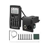 Przedwzmacniacz 4-pasmowy korektor przedwzmacniacza Wzmacniacz przedwzmacniacza akustycznego Piezo Pickup z tunerem LCD i regulacją głośności