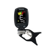 SWIFF A3-CS Rotatable Clip-on Tuner LCD Colorful Display Supports Vibration & Microphone Tuning for Chromatic Guitar Bass Ukulele Violin