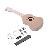 21 pollici FAI DA TE Ukulele Ukelele Uke Kit in tiglio con corpo e collo in plastica Tastiera e ponte in nylon per gli amanti degli ukulele