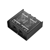 Muslady DI-2 Professional Dual-Channel Passive DI-Box Direct Injection Audio Box Balanced & Unbalance Signal Converter with XLR TRS Interfaces for Electric Guitar Bass Live Performance