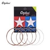Orphee T7 / 1253 (.012-.053) Cordes de guitare pour guitares folk acoustiques Jeu de cordes 6pcs Noyau hexagonal Revêtement Phosphore Bronze Enroulement moyen léger