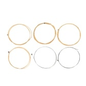 Acoustic Folk Guitar Strings Steel Core Golden-Copper Winding Light-Coated Anti-Rust 6pcs/set
