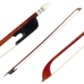 4/4 Violin Fiddle Bow Snakewood Ebony Frog Sheepskin Wrapping Horsetail Hair
