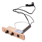 Cajon Drum Sound Hole Pickup Microphone Pick-up System for Box Drum with Tone Volume Control 6.35mm Output Jack