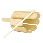 Strumento musicale con suono in legno a 8 toni con bacchetta