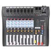 CT80S-USB 8 canale Digtal Mic Line Mixer Console di mixaggio Audio con alimentazione Phantom a 48V per la registrazione di fase DJ Karaoke musica apprezzamento