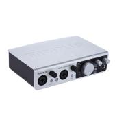 MIDIPLUS STUDIO 2 USB Audio Interfejs karty dźwiękowej 2 wejścia 2 wyjścia 24bit / 192kHz High Precision próbkowania 48V zasilanie Phantom z 6,35 do 3,5 mm Kabel USB Adapter