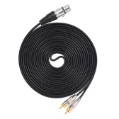 1 XLR femmina a 2 cavo Stereo Audio Cable connettore a Y Filo RCA spina maschio (5m / 16.4ft)