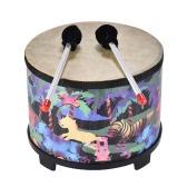 10 Zoll Holzboden Trommel Gathering Club Karneval Percussion Instrument mit 2 Mallets für Kinder Kinder