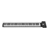 61 Keys Portable Silicon Electronic Keyboard Hand Roll Up Piano Built-in Speaker for Students