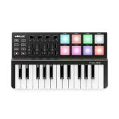 WORLDE Panda MINI 25キー超ポータブルUSB MIDIキーボードコントローラ