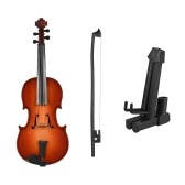 Mini Wooden Violin Model Exquisite Desktop Musical Instrument Decoration