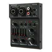 ammoon AGM02 Mini console di missaggio audio a 2 canali
