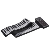 Portable électrique 88 touches Main Roll Up Piano Multifonction Piano Numérique Clavier Haut-Parleur intégré Batterie au Lithium Rechargeable Réverbération BT Fonction Flexible Clavier Piano En Silicone
