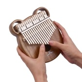 Cute Bear Wooden 17-Key Kalimba Thumb Piano