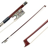 4/4 Violin Fiddle Bow Pernambuco Wood Abalone Shell Frog