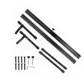 Supporto per tastiera per pianoforte stile X Supporto per musica resistente regolabile e portatile con cinturino di ancoraggio nero