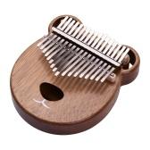 Ammoon Piano de pulgar portátil en tono C Kalimba de 17 teclas