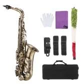 ammoon Mi bémol Alto Saxophone Vintage Style Mib Alto Sax Instrument à vent
