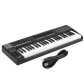 PANDA49 controlador del teclado de 49 teclas MIDI USB 8 Drum Pads con cable USB