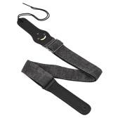 Cintura in poliuretano regolabile in cintura a tracolla in poliuretano sintetico in pelle sintetica con piccole tasche 3 pezzi in chitarra per chitarre elettriche classiche popolari acustiche basse