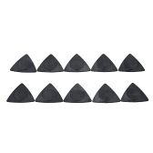 10pcs Universal 3-in-1 Multi-thickness Guitar Picks One Pick with 3 Thickness(0.5mm + 0.75mm + 1.0mm) Black