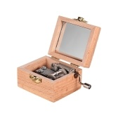Wooden Hand Crank Music Box Classical Melody