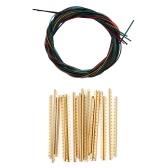 6pcs cordas de guitarra clássica de nylon multicoloridas