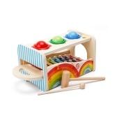 Juguetes educativos multifuncionales Knock Ball Music Pound A Ball Toy con mazos de xilófono deslizables para niños
