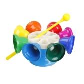 8 note giocattolo musicale strumento a percussione campana a mano con Sitck