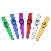 Muslady 6pcs Instrumento musical Kazoo de aleación de aluminio para niños adultos principiantes
