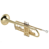 ammoon Trompete Bb B flach Messing Gold-lackiert Exquisite Durable Musikinstrument