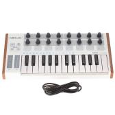 Worlde Ultra-Przenośny Mini Profesjonalny 25-klucz USB MIDI Drum Pad i Kontroler Klawiatury